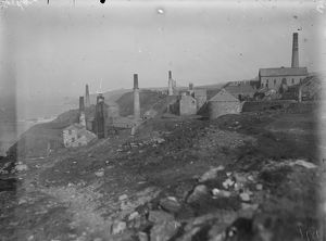 Levant Mine, St Just in Penwith, Cornwall. October 1919