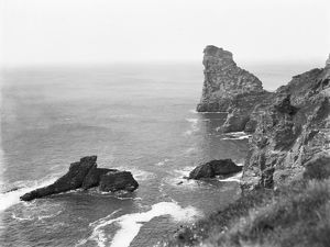 Long Island from Trambley Cove, Trevalga, Cornwall. Probably 1925