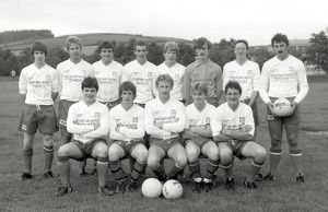Lostwithiel football team, Lostwithiel, Cornwall. September 1984