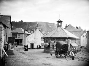 Market Square, West Looe, Cornwall. Before 1892