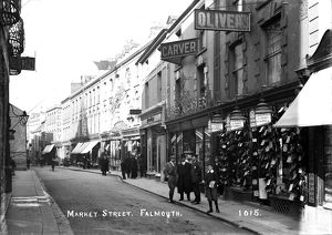 Market Street, Falmouth, Cornwall. Early 1900s