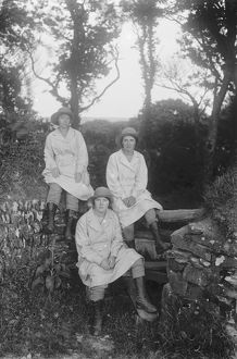 Members of the First World War Women's Land Army, Cornwall. Around 1916