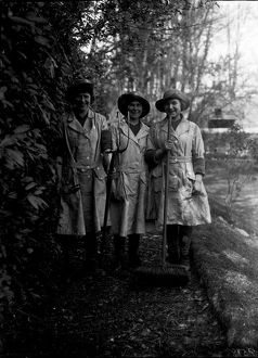 Members of the First World War Women's Land Army. Cornwall. Around 1917