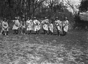 Members of the First World War Women's Land Army. Cornwall. May 1917