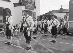 Morris men, Lostwithiel, Cornwall. June 1984