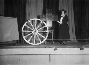 Mrs Morse with a Red Cross display, lecturing on the Cornwall Work Auxiliary (part