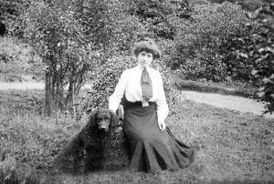 Mrs Wood at Trevince, Gwennap, Cornwall. August 1910