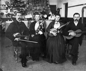 Musical group, Padstow, Cornwall. Early 1900s