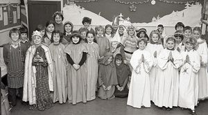 Nativity play, St Winnow Church of England Primary School, Lostwithiel, Cornwall