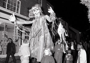 New Year's Eve Giants, Lostwithiel, Cornwall. 31st December 1990