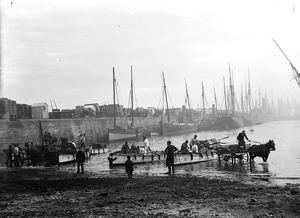Newlyn harbour, Cornwall. 1900s
