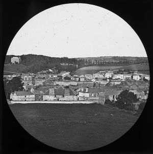 North view over town and river, Wadebridge, Cornwall. Probably 1880s