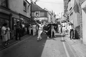 The 'Obby 'Oss, Duke Street, Padstow, Cornwall. 1966