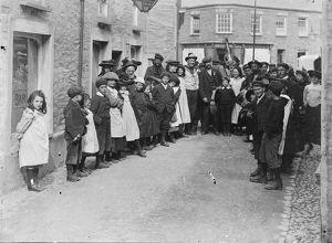 The 'Obby 'Oss, Padstow, Cornwall. Around 1920