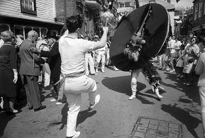 The 'Obby 'Oss, Padstow, Cornwall. 1966