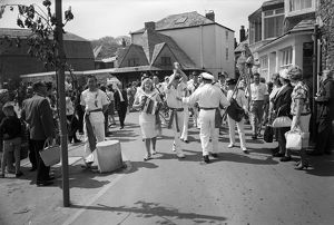 The 'Obby 'Oss, The Strand, Padstow, Cornwall. 1966