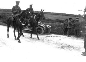 Officers on horseback, possibly Farms Common, Wendron? Possibly March 1915