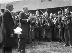 Opening of agricultural show, Cornwall. Early 1920s