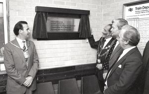 Opening of new railway station building, Lostwithiel, Cornwall. 18th November 1982