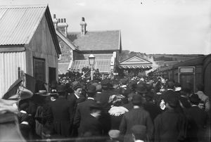 Opening of Padstow railway station, Cornwall. 27th March 1899