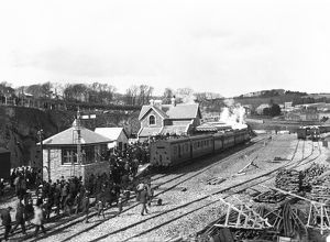 Padstow railway station, Cornwall. 27th March 1899