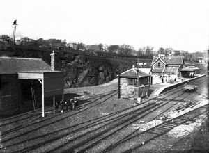 Padstow railway station, Cornwall. March 1899