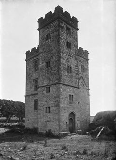 Pengersick Castle, Breage, Cornwall. Early 1900s
