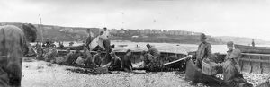 Pilchard seining, St Ives, Cornwall. Early 1900s