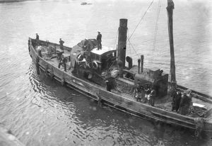 Plane being brought into Falmouth docks. 28th May 1919