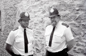 Police Officers, Lostwithiel, Cornwall. May 1990