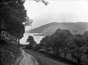 Polridmouth Bay and Gribbin Head with Daymark Tower, Tywardreath, Cornwall. 1904