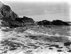 Porthcew beach, Rinsey, Breage, Cornwall. Date Probably early 1900s