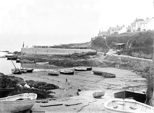 Porthscatho harbour, Gerrans, Cornwall. Early 1900s