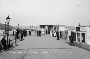 The Prince of Wales Pier, Falmouth, Cornwall. 1900s