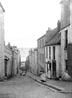 Quay Hill, Falmouth, Cornwall. Early 1900s