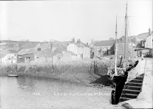 Quay and waterfront, Flushing, Cornwall. Early 1900s