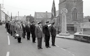 Remembrance Day, Tywardreath, Cornwall. November 1987