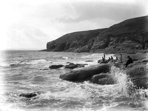 Rinsey Head, Breage, from Porthcew, Cornwall. Probably early 1900s