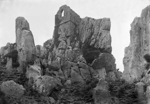 Roche Rock chapel from the northeast, Roche, Cornwall. Early 1900s