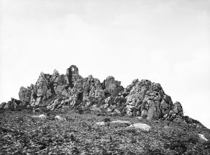 Roche Rock with the chapel from the northeast, Roche, Cornwall. 1910