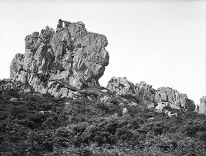Roche Rock with the chapel from the northwest, Roche, Cornwall. 1910