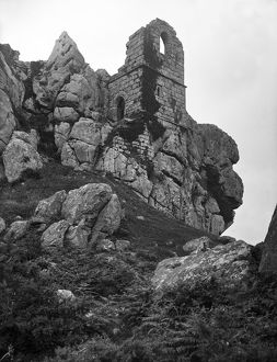 Roche Rock chapel from the southeast, Roche, Cornwall. 1905