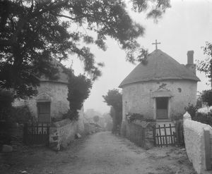 Round houses, Pendower Road, Veryan, Cornwall. August 1910