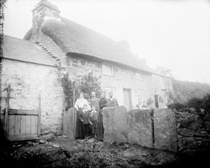 The Rowe family, Coverack Bridges, Wendron, Cornwall. 1890s