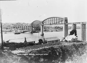 The Royal Albert Bridge, Saltash, Cornwall. Early 1900s