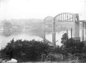 The Royal Albert Bridge, Saltash, Cornwall. After 1859
