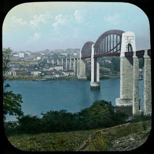 Royal Albert Bridge, Saltash, Cornwall. After 1859