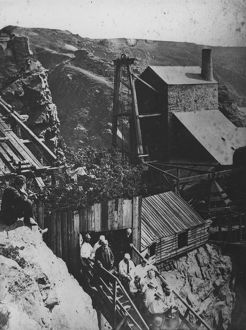 Royal Party descent of inclined shaft, Botallack Mine, St Just in Penwith, Cornwall
