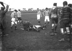 Rugby Union match, Redruth, Cornwall. About 1919