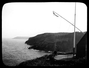 Signal station. Cadgwith, Cornwall. Late 1800s